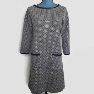 Max Studio Jacquard Stretch Knit 3/4 Sleeve Dress